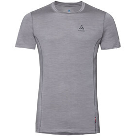 Odlo Merino 130 Top Crew Neck S/S Men, grey melange